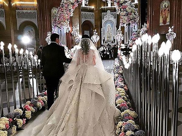 Đám cưới xa hoa của con trai ông trùm bất động sản Nga cùng cô dâu xinh đẹp như công chúa trong truyện cổ tích