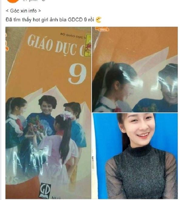 10X Lao Cai kho so khi bi nham la hot girl anh bia sach giao khoa hinh anh 1