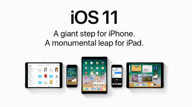 Chuan bi iPhone, iPad de cap nhat iOS 11 dem nay hinh anh 1