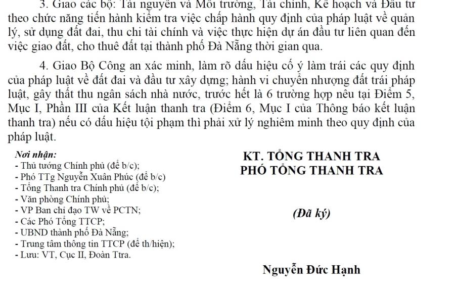Thủ tướng từng chỉ đạo xác minh, xử lý việc chuyển nhượng đất của ông Phan Văn Anh Vũ