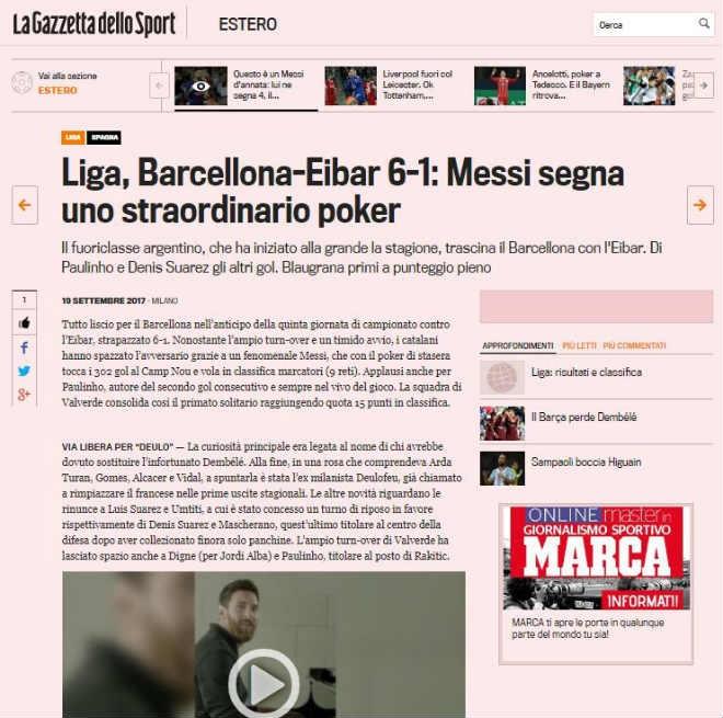 """Messi 9 bàn/5 trận: Báo chí thế giới choáng váng, gọi là """"vị Thần"""" ở Barca - 6"""