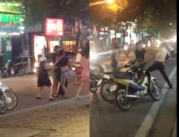 Clip: Nghĩ mình bị nhìn đểu, nam thanh niên đánh người đàn ông chảy máu đầu giữa phố Hà Nội - Ảnh 3.