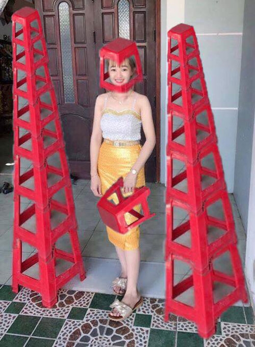 "cuoi ngat voi cai ket hot girl len mang nho cac ""thanh photoshop"" xoa chiec ghe do - 6"