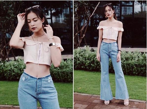 Ket hop trang phuc cung quan jeans nhu Thanh Hang, Hoang Thuy Linh hinh anh 2