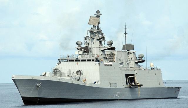 Tàu hộ vệ INS Satpura (Ảnh: Wikipedia)