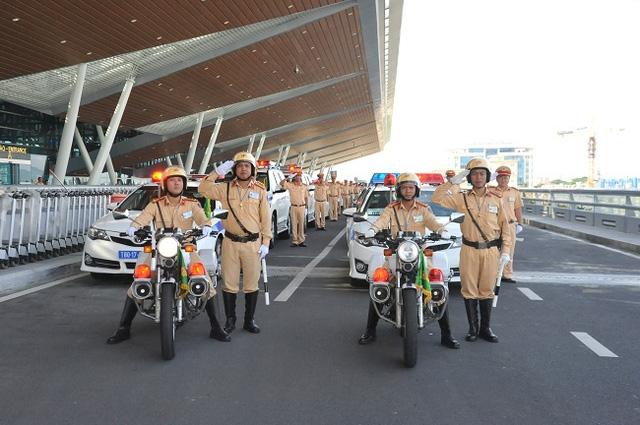 Lực lượng CSGT đã sẵn sàng cùng nhiều lực lượng khác phục vụ sự kiện