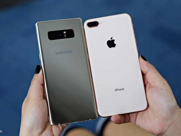 So thiết kế Samsung Galaxy Note 8 với iPhone 8 Plus