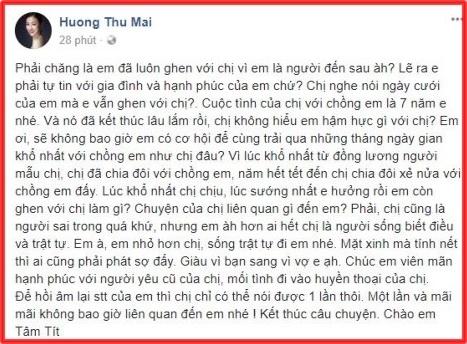 Status được Mayađăng tải để đáp trả lại những lời mỉa mai củaTâm Tít. - Tin sao Viet - Tin tuc sao Viet - Scandal sao Viet - Tin tuc cua Sao - Tin cua Sao