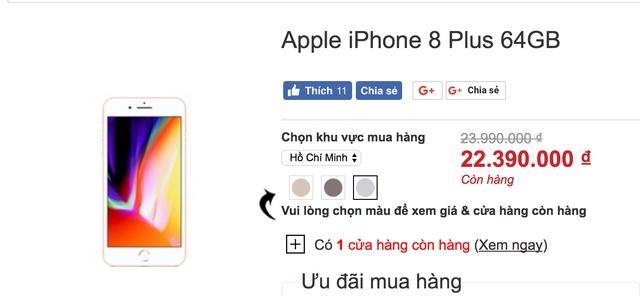 Giá bán iPhone 8 Plus hiện nay
