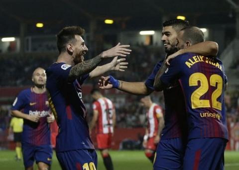 Lionel Messi chua ghi ban vao luoi Girona.