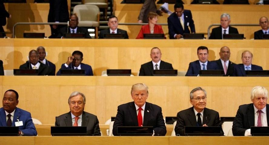 Phiên họp thứ 72 Đại hội đồng Liên Hợp Quốc ở New York, Mỹ. Ảnh: Reuters