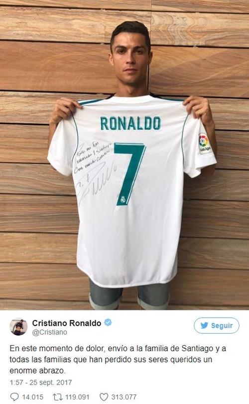 Hành động ấm lòng của Ronaldo khi nhận bức thư xúc động của người mẹ mất con vì động đất - Ảnh 2.