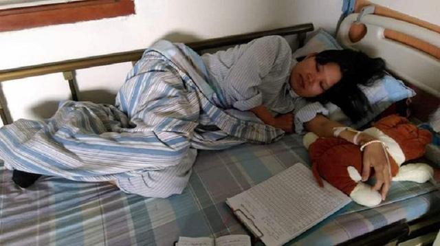 Mắc bệnh ung thư máu, 1 năm qua chị Hảo ở viện nhiều hơn ở nhà. Ảnh: Ngọc Thi