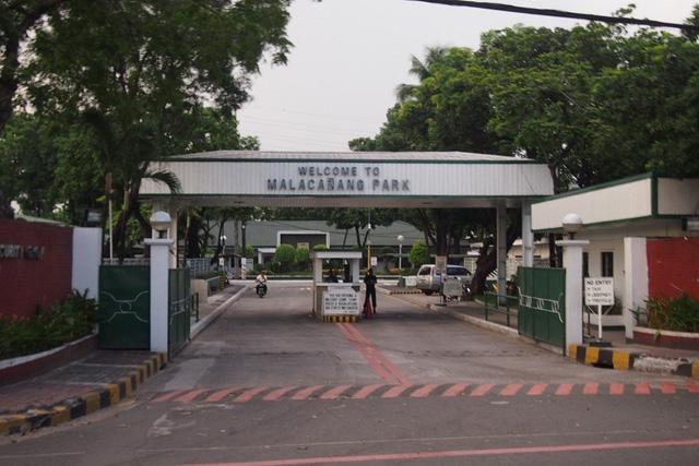 Vụ nổ súng được xác nhận xảy ra ở Công viên Malacanang. (Ảnh minh họa: PhilStar)