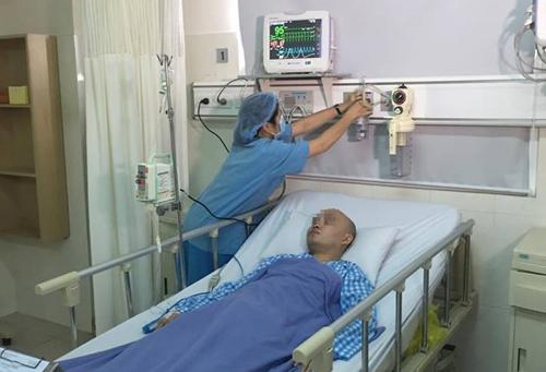 Bệnh nhân hồi phục sau can thiệp. Ảnh: H.M