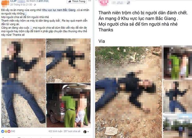 Công an Bắc Giang điều tra người tung tin thất thiệt nam thanh niên trộm chó bị đánh tử vong - Ảnh 1.