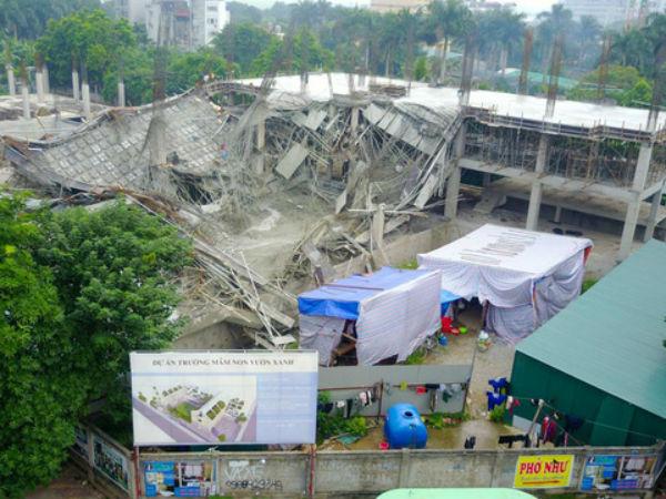 Sập công trình trường mầm non ở Hà Nội: Sự cố được báo trước?