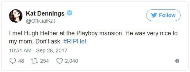 Loạt sao Hollywood đau buồn thương tiếc ông trùm Playboy vừa qua đời - Ảnh 7.