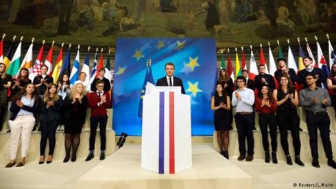Ông Macron có bài phát biểu quan trọng ngày 26/9/2017 ở Paris. (Ảnh: Reuters)
