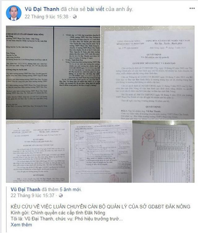 Phó hiệu trưởng kêu cứu trên Facebook, Sở bắt gỡ bài - Ảnh 2.