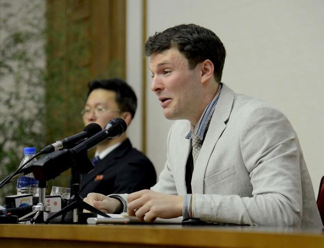 Sinh viên Mỹ Otto Warmbier (Ảnh: Reuters)