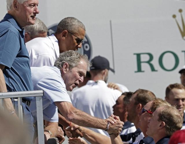 Mặc dù rất đam mê bộ môn golf song Tổng thống Donald Trump đã không có mặt tại sự kiện này. Ông đang tham dự lễ kỷ niệm 70 năm thành lập Hội đồng An ninh Quốc gia Mỹ tại thủ đô Washington. (Ảnh: Reuters)