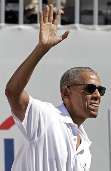 Cựu Tổng thống Barack Obama từng giữ chức Chủ tịch Danh dự của Presidents Cup khi ông còn đương chức. (Ảnh: AFP)