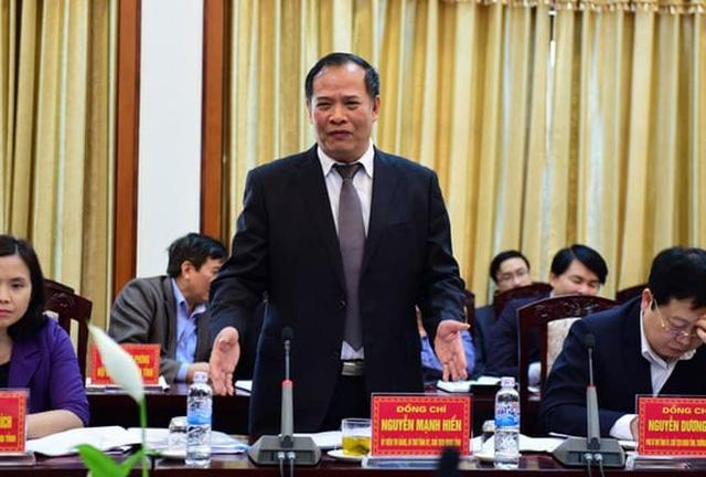 Bí thư Tỉnh uỷ Hải Dương Nguyễn Mạnh Hiển (Ảnh: Tiền Phong).
