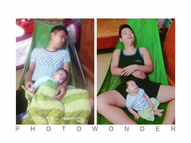 Những hình ảnh chứng minh mẹ là kẻ bị ra rìa, bố con chúng nó giống nhau như lột, đến cái dáng ngủ cũng copy - Ảnh 22.