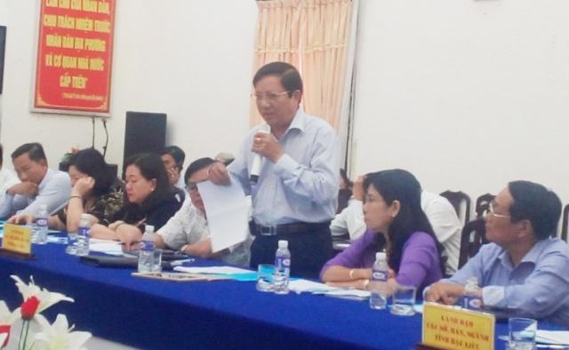 Ông Nguyễn Minh Tùng- Phó Giám đốc Sở Y tế tỉnh Bạc Liêu trả lời kết luận vụ việc xảy ra tại BVĐK thị xã Giá Rai đối với khiếu nại của gia đình bệnh nhân Lý Thanh Trường.