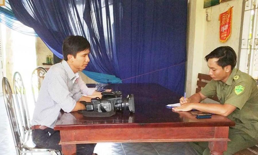 phóng viên bị hành hung, phóng viên bị đánh, ô nhiễm môi trường, Long An