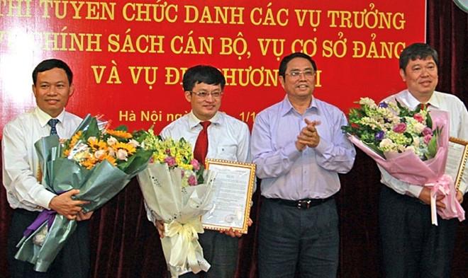 Ban To chuc Trung uong bo nhiem 3 vu truong moi qua thi tuyen hinh anh 1