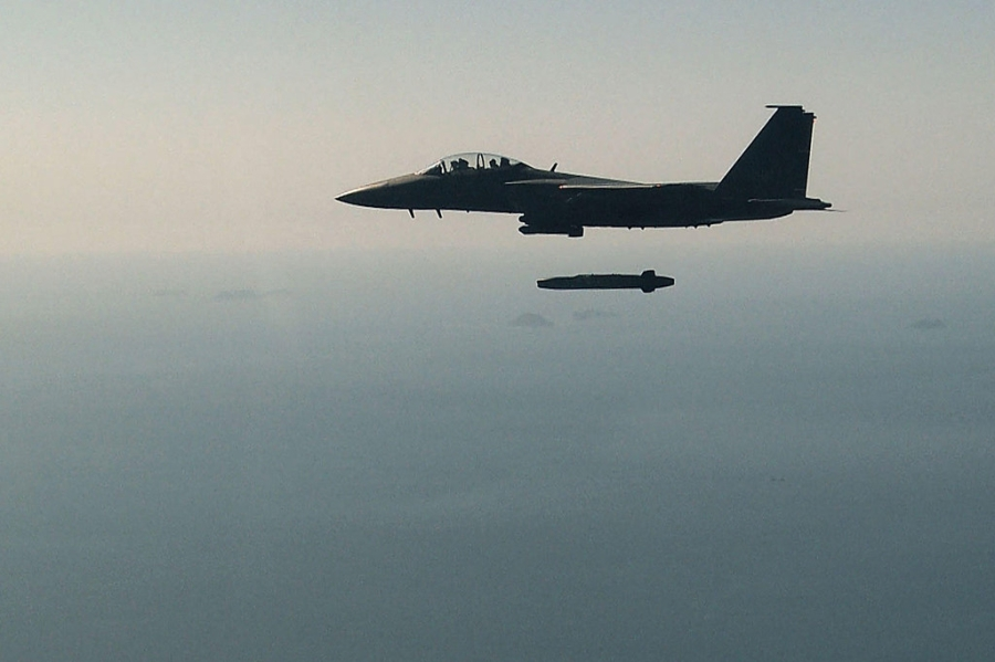 F-15K, at chu bai cua Han Quoc doi pho ten lua Trieu Tien hinh anh 2