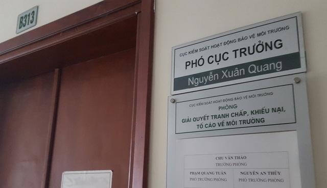 Phòng làm việc của Cục phó Nguyễn Xuân Quang.