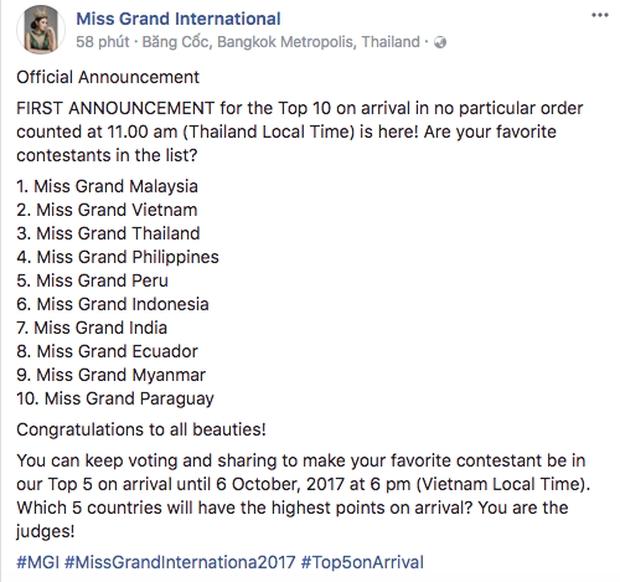 Chưa đầy 4 ngày, Huyền My đã lọt Top 10 thí sinh được yêu thích nhất Miss Grand International - Ảnh 1.