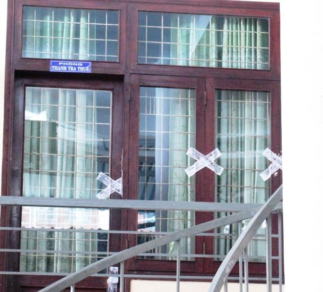 Sáng 2/10, phòng Thanh tra thuế, Cục Thuế tỉnh Bình Định đang bị niêm phong.
