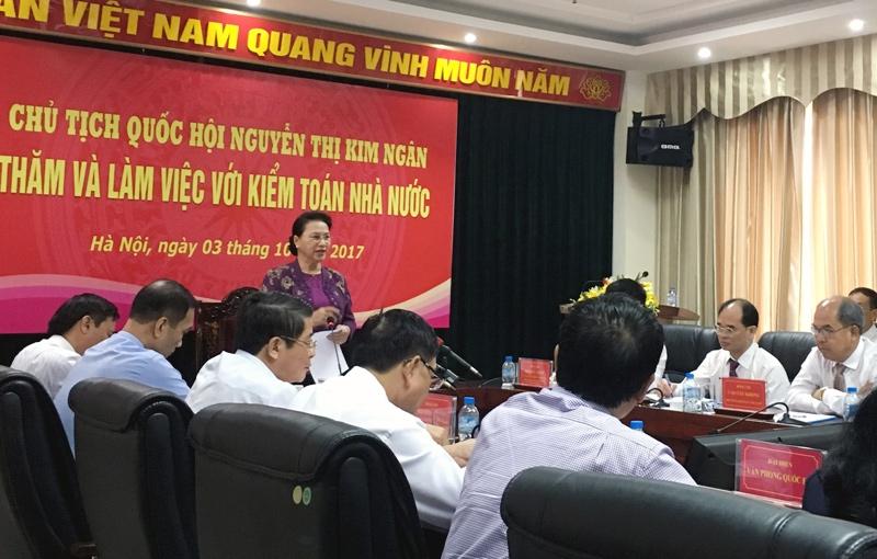 Kiểm toán Nhà nước, ngân hàng 0 đồng, vốn Nhà nước, Chủ tịch Quốc Hội, bà Nguyễn Thị Kim Ngân,