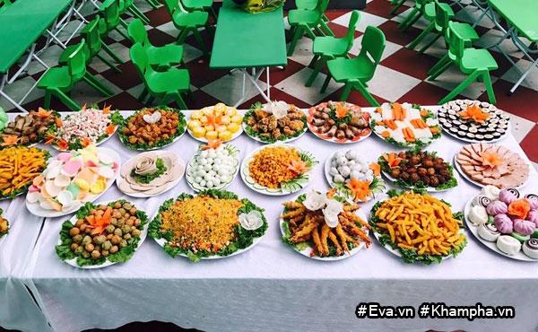 "mam buffet trung thu 45 mon cua cac be mau giao vinh phuc khien dan mang cung ""thom them"" - 11"