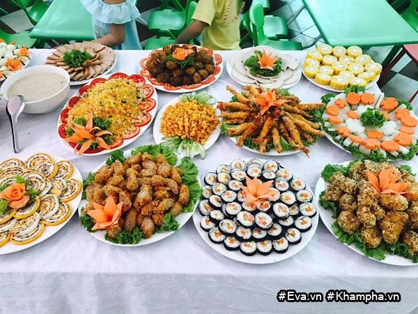 "mam buffet trung thu 45 mon cua cac be mau giao vinh phuc khien dan mang cung ""thom them"" - 14"