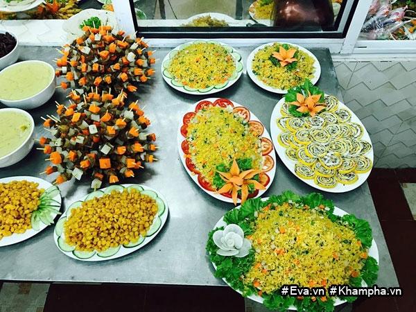 "mam buffet trung thu 45 mon cua cac be mau giao vinh phuc khien dan mang cung ""thom them"" - 15"