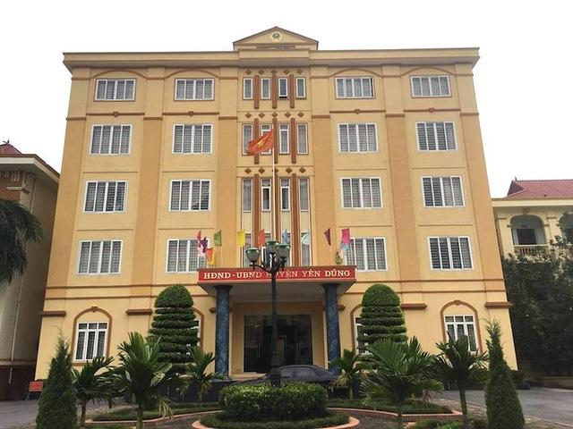 Trụ sở UBND huyện Yên Dũng nơi xảy ra hàng loạt sai phạm.