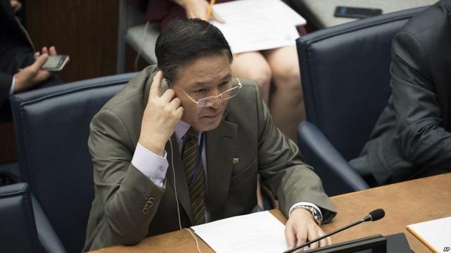 Đại sứ Triều Tiên tại Liên Hợp Quốc Ja Song Nam (Ảnh: Reuters)