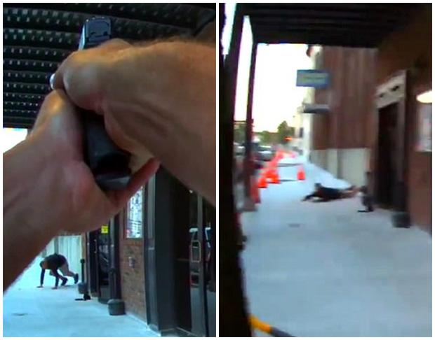 Clip: Đang đóng phim, nam diễn viên suýt bị cảnh sát bắn chết vì nhầm là cướp có vũ trang