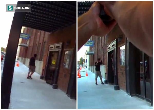 Clip: Đang đóng phim, nam diễn viên suýt bị cảnh sát bắn chết vì nhầm là cướp có vũ trang - Ảnh 2.