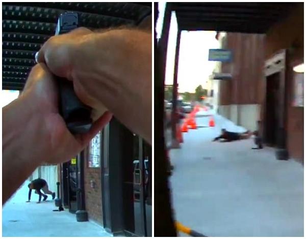 Clip: Đang đóng phim, nam diễn viên suýt bị cảnh sát bắn chết vì nhầm là cướp có vũ trang - Ảnh 3.