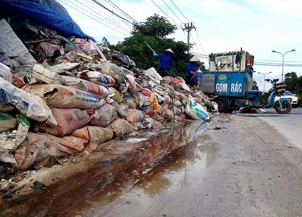 Hà Nội: Nhiều núi rác khổng lồ xuất hiện tại thị xã Sơn Tây khiến người dân sợ hãi - Ảnh 5.