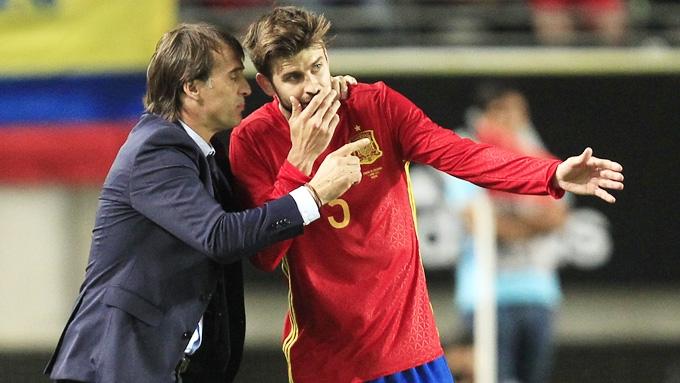 HLV Lopetegui đóng vai người hòa giải mẫu thuẫn giữa Pique và Ramos