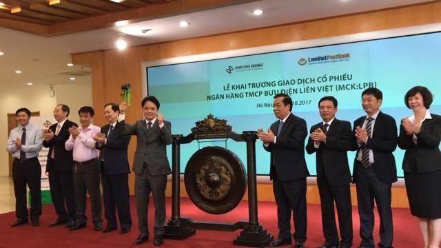 Sáng nay 5/10, 646 triệu cổ phiếu mang mã LPB của Ngân hàng Bưu điện Liên Việt (LienVietPostBank) chính thức đăng ký giao dịch trên sàn UPCoM.