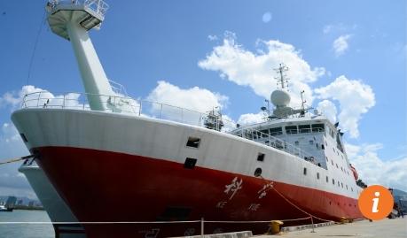 Tàu hải dương học Kexue của Trung Quốc (Ảnh: Tân Hoa Xã)