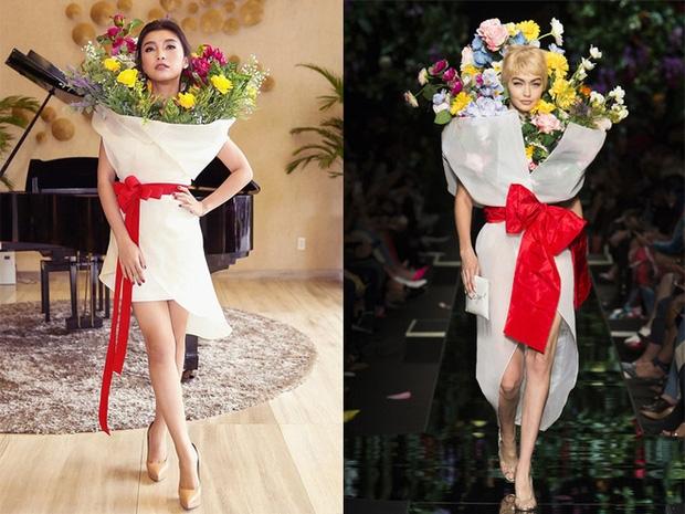 Ngang nhiên mượn thiết kế của Moschino nhưng bó hoa Tiêu Châu Như Quỳnh lại kém sắc trầm trọng - Ảnh 8.